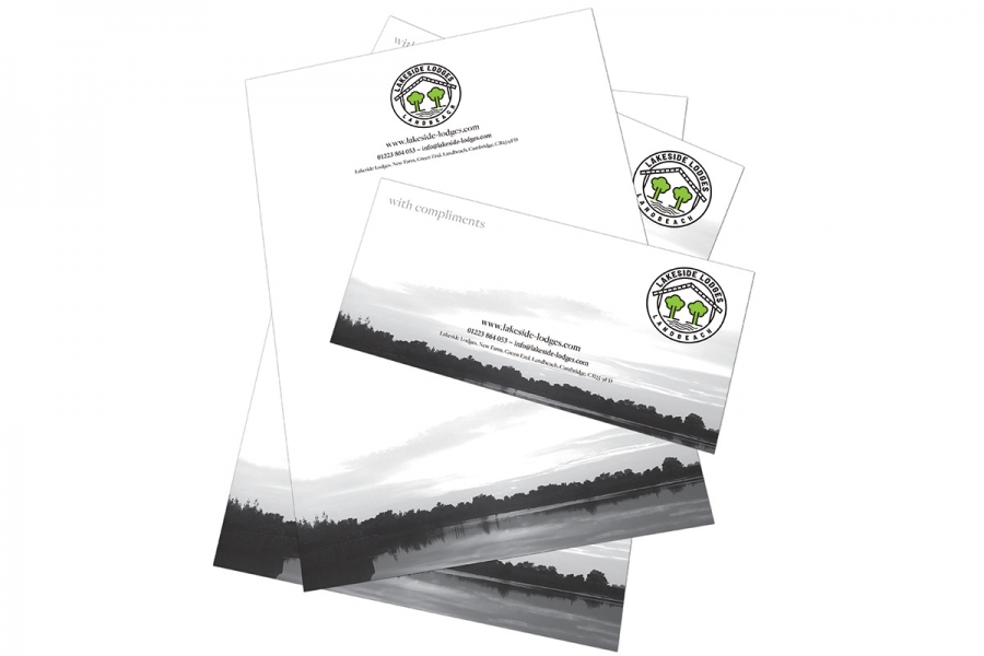 Lakeside Lodges Business Stationery