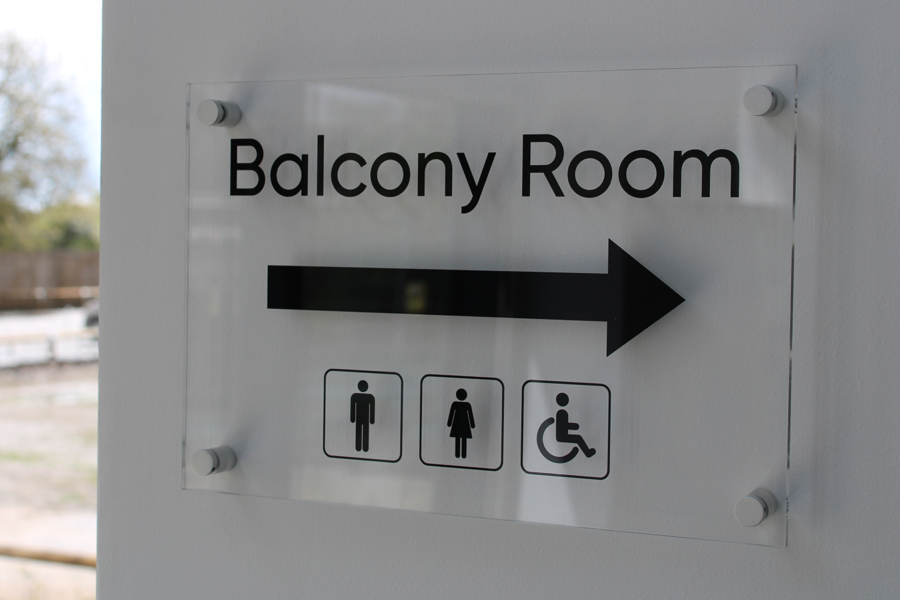Balcony Room Perspex Sign