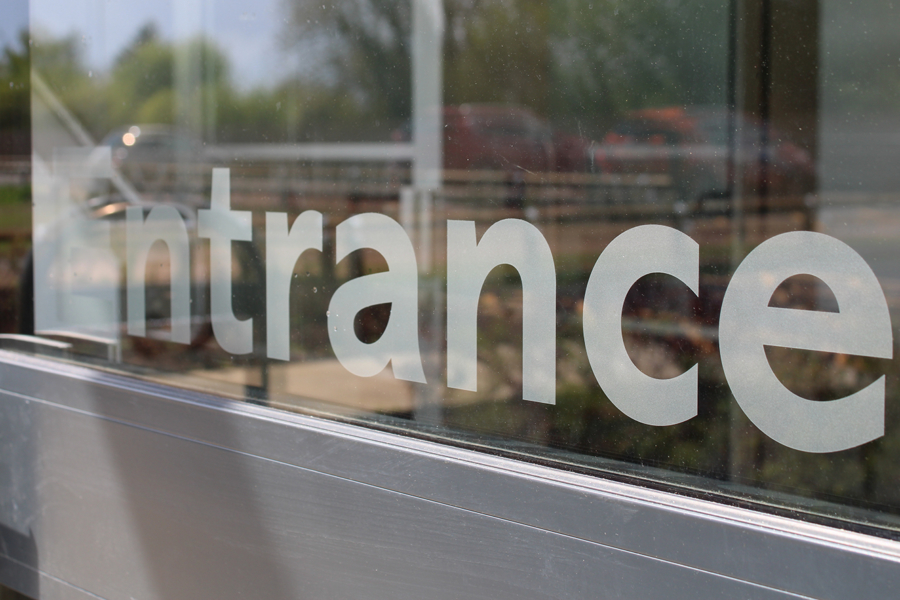Frosted Entrance Graphic